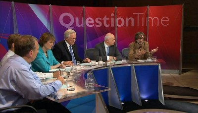 Jarvis on Question Time (BBC1)