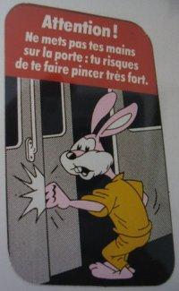 Sticker found on Paris metro train doors